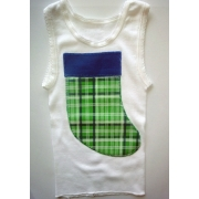 Christmas Clothing Singlet - Navy Stocking Size 0Last one left!