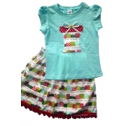 Christmas Clothing Girls Set - Present AquaSize 4Last one left!