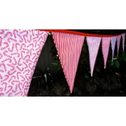 Bunting - Candy Cane Stripe10 flags