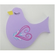 Clip-a-licious Hair Clip HolderBird Swirly Purple