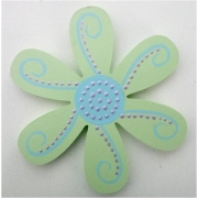 Clip-a-licious Hair Clip HolderFlower Dotty Green & Blue
