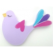 Clip-a-licious Hair Clip HolderCutie Bird - Purple