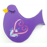 Clip-a-licious Hair Clip HolderBird Swirly Dark Purple