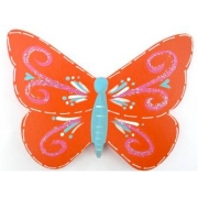 Clip-a-licious Hair Clip HolderButterfly Swirly Bright Orange
