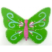 Clip-a-licious Hair Clip HolderButterfly Swirly Bright Green