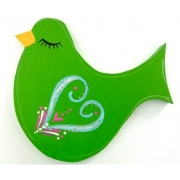 Clip-a-licious Hair Clip HolderBird Swirly Bright Green