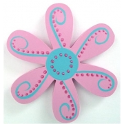 Clip-a-licious Hair Clip HolderFlower Dotty - Pink & Aqua