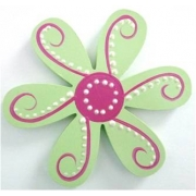 Clip-a-licious Hair Clip HolderFlower Dotty Green & Dark Pink