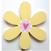 Clip-a-licious Hair Clip HolderFlower - Lemon & Pink