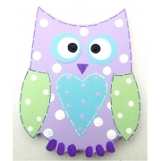 Clip-a-licious Hair Clip HolderOwl Dotty - Mauve & Fresh Green
