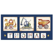 Canvas Name - Construction 2Avail. in 20 different colours