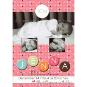 Christening Invitation 'Cotton Candy Dots'