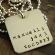 Cubed Stamped Necklace