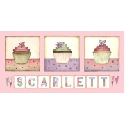 Canvas Name - Cupcakes(25cms x 50cms)Avail. in 20 different colours