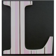 Alphabet Letters HandpaintedChoose your font & sizeChocolate, Pink & White Stripes