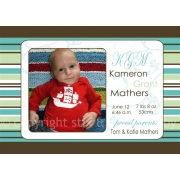 Christening Invitation 'Strips & Stripes'
