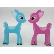 Wooden Block Freestanding deer