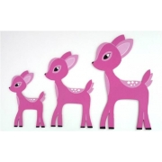 Wall Motif Set - Deer Enchanted Forest - PINKPainted