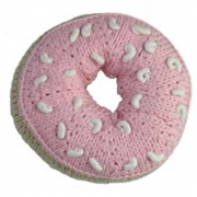 Knitted Rattle Donut Pink Sugar - 1 LEFT