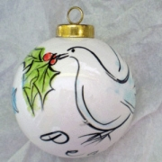 Bauble Christmas Handpainted Ceramic & PersonalisedDove