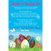 Easter Theme Personalised Birthday Invitation Personalised