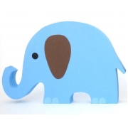 Wooden Block Freestanding elephant