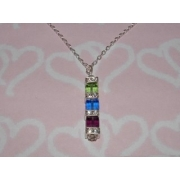 Mother's Crystal Cube Necklace
