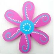 Artwork Hanger Set - Flower - Dotty Dark Pink & Calypso SkyDisplay your child's pictures
