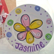 Handpainted Plate - Xmas Flower