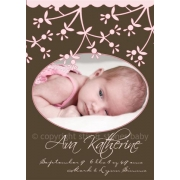 Christening Invitation 'Chantilly Cream'