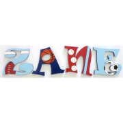 Alphabet Letters HandpaintedChoose your font & sizeThemed - Football Design