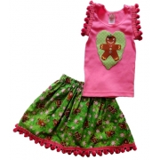 Christmas Clothing Girls Set - Loveheart Size 00 - 2
