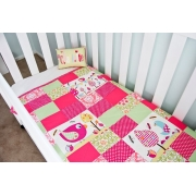 Cot/Pram Quilt Garden Party - Can be Personalised