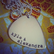 Guitar Pick Stamped Necklace