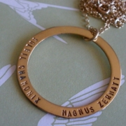 Halo GOLD Stamped Necklace