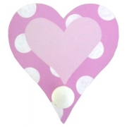 Coat Hook - Heart Pink
