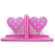 Book End Pair - Hearts - Dark Pink