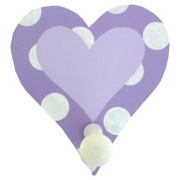 Coat Hook - Heart Purple