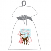Santa Sack - PersonalisedSnowflake Light Blue