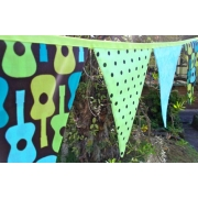 Bunting - Groovy Guitars and Polka Dots 9 flags