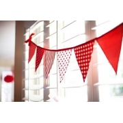 Bunting - Strawberries & Cream9 flags