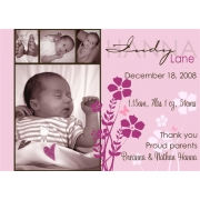 Christening Invitation 'Serenity Pink'
