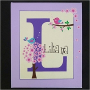 Canvas Name Plaque HandpaintedBirdies