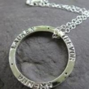 Inscribed Stamped Necklace