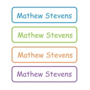 Personalised School LabelsMulti Colours - Labels IRON-ONS48 labelsfree shipping