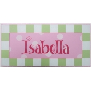 Name Plaque'Pink Mint'