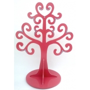 Jewellery Tree - LARGEChoose from over 20 coloursshown here in rouge pink gloss with aqua gems