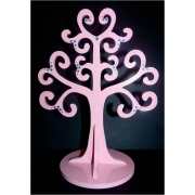 Jewellery Tree - LARGE Choose from over 20 colours shown here in lolly pink gloss with multicolour gems