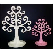 .Jewellery Tree - SMALL Choose from over 20 colours shown here in lolly pink gloss