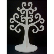 Jewellery Tree - LARGE Choose from over 20 colours shown here in white gloss
